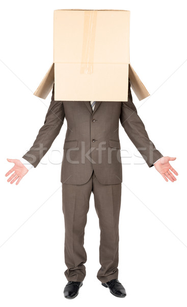 Anonymous businessman with arms out  Stock photo © cherezoff