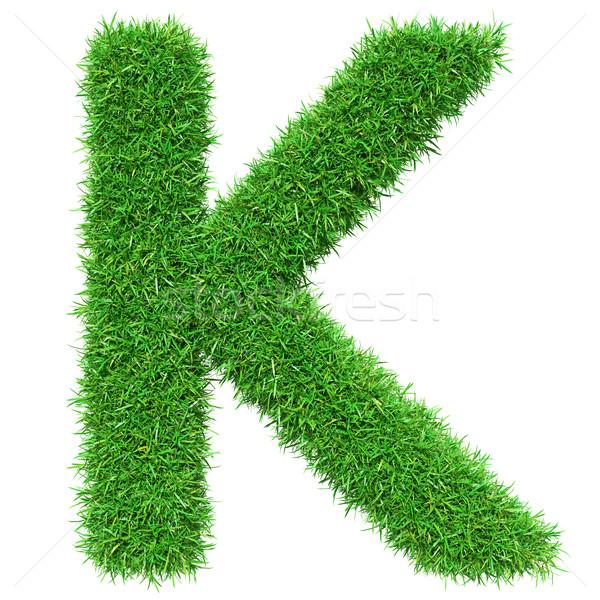 Green Grass Letter K Stock photo © cherezoff