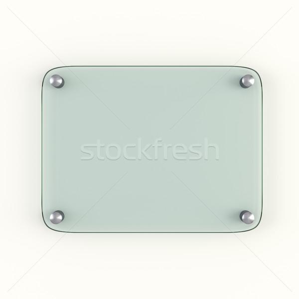 Glass plate mock up Stock photo © cherezoff