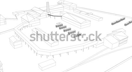 Industrial building Stock photo © cherezoff