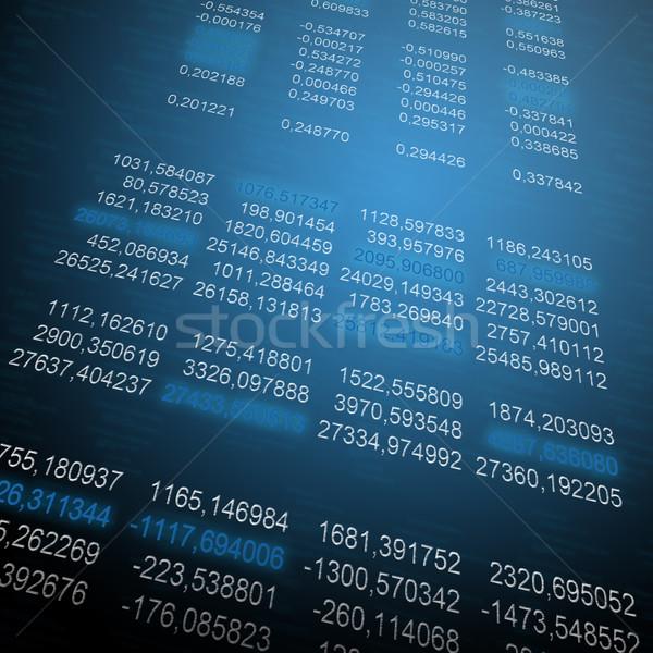 Glowing digital code on a dark background Stock photo © cherezoff