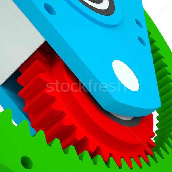 Mechanism of colored gears Stock photo © cherezoff