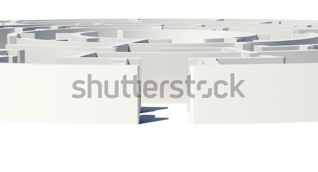 Out of labyrinth, closed view Stock photo © cherezoff