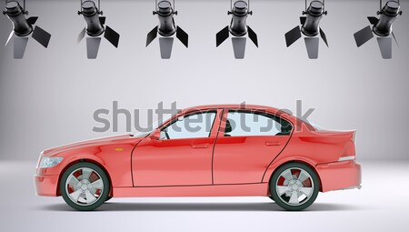 Businesslady with red car Stock photo © cherezoff