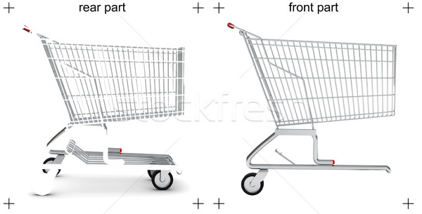 Rear and front parts of shopping cart Stock photo © cherezoff