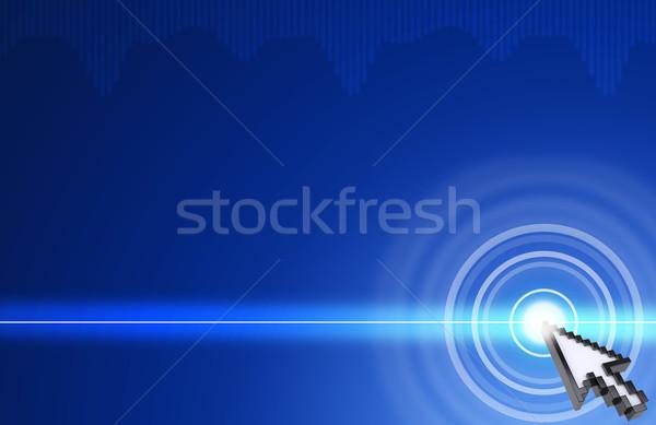 Cursor pressing on virtual blue screen Stock photo © cherezoff