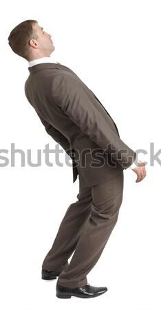 üzletember görbület hát izolált fehér bank Stock fotó © cherezoff