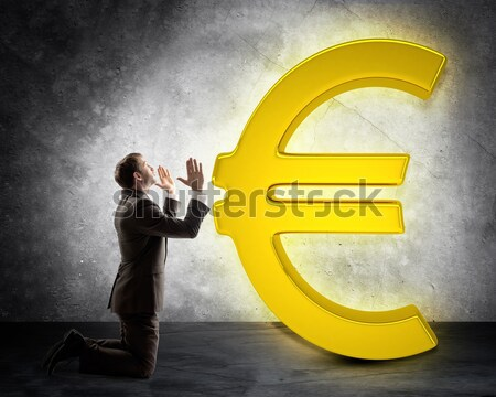 Dollar sign appearing from magic lamp Stock photo © cherezoff