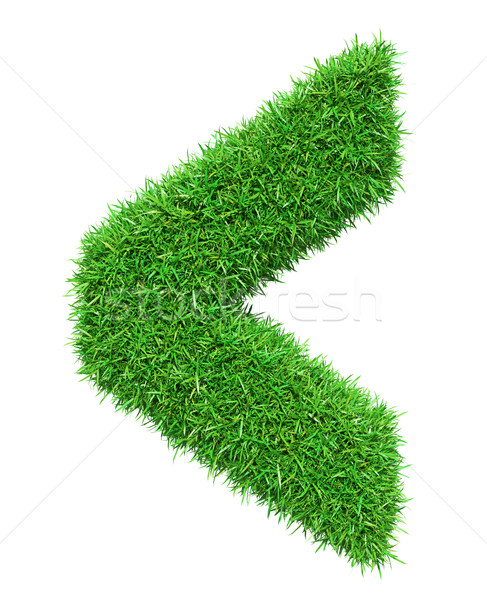 Foto stock: Grama · verde · verificar · isolado · branco · ilustração · 3d