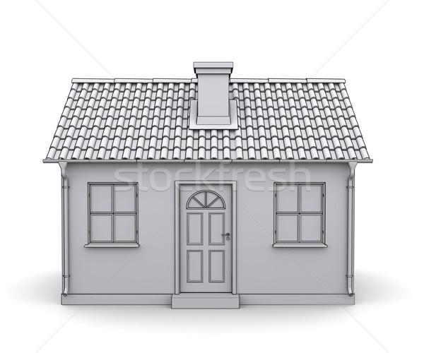 Frame house 3d model of a white Stock photo © cherezoff