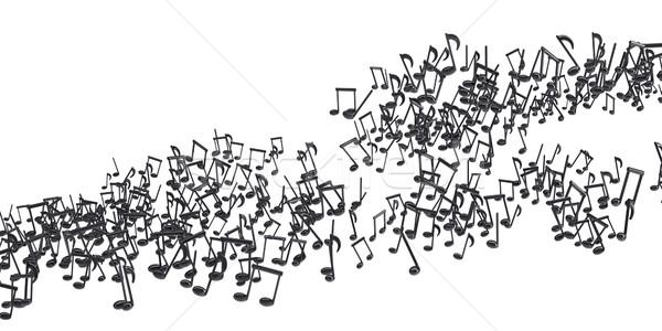черный музыки отмечает изолированный 3D Сток-фото © cherezoff