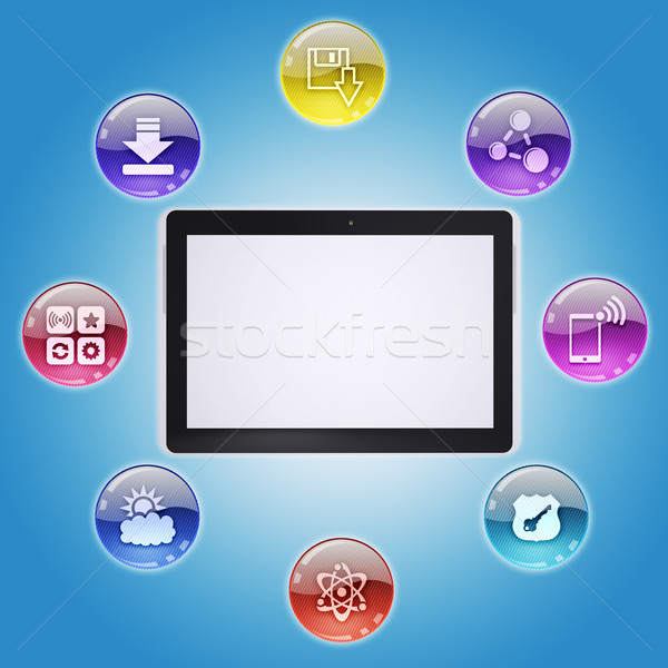 プログラム アイコン コンピュータソフトウェア ビジネス ノートパソコン ストックフォト © cherezoff