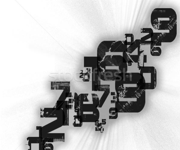 Abstract retro nummers grunge stijl papier Stockfoto © cherezoff
