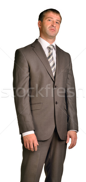 Zakenman gezicht geïsoleerd witte man pak Stockfoto © cherezoff