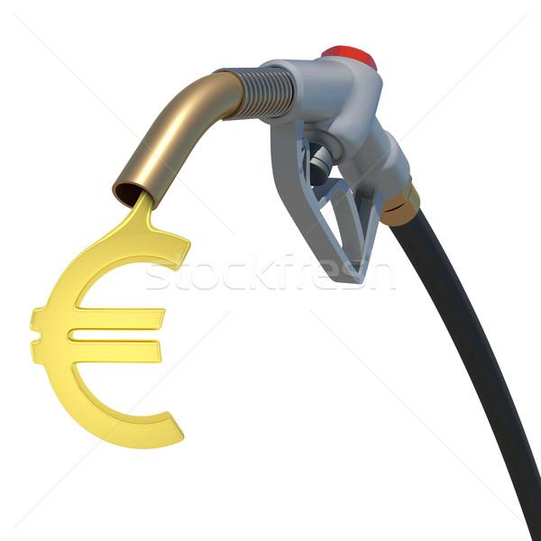 Grey hose tube with oil euro Stock photo © cherezoff