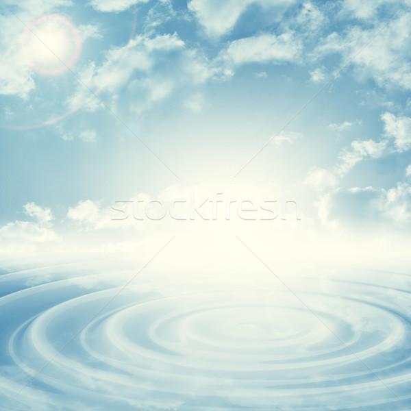 Naturelles ciel bleu lumineuses place centre Photo stock © cherezoff