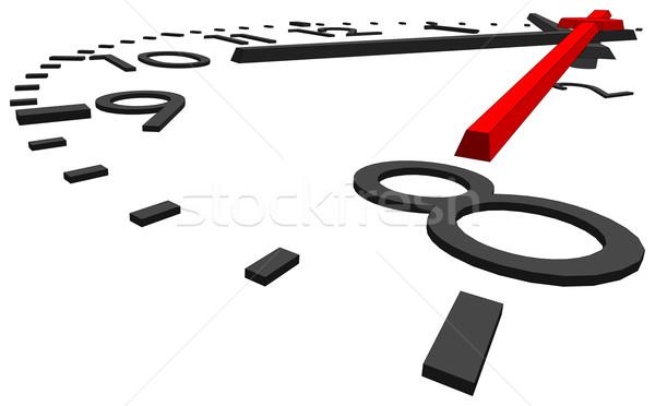 Nummers geïsoleerd witte Stockfoto © cherezoff