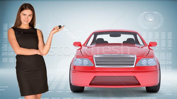 車のキー 見える カメラ 抽象的な 青 ストックフォト © cherezoff