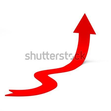 Red rising arrow Stock photo © cherezoff