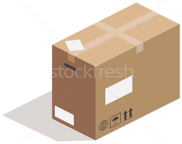 Carton box, vector Stock photo © cherezoff