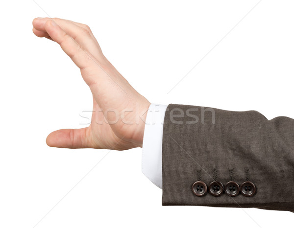 Businessmans hand holding empty space Stock photo © cherezoff