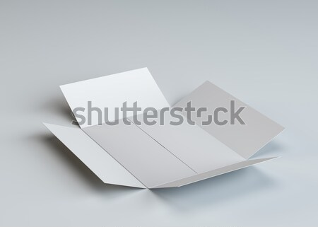 Ouvrir vide papier livret blanche isolé Photo stock © cherezoff
