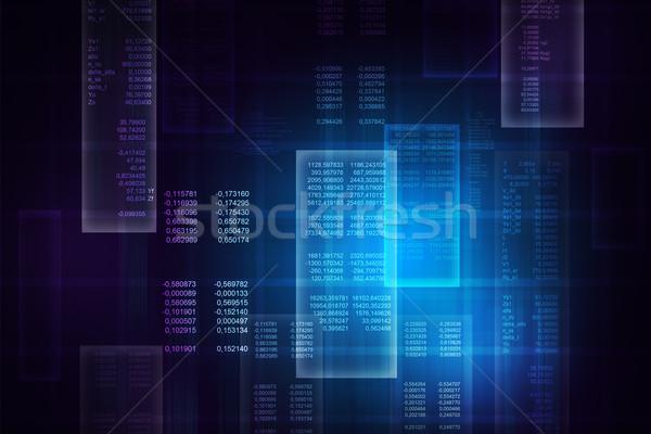 двоичный синий компьютер Код матрица аннотация Сток-фото © cherezoff
