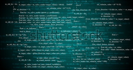 Abstract green background with numbers Stock photo © cherezoff