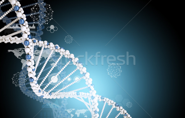ДНК Мир карта аннотация синий медицина Мир Сток-фото © cherezoff