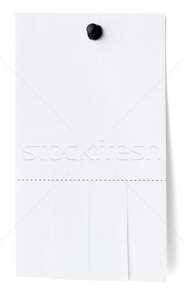 Tear off stripes of paper sheet Stock photo © cherezoff