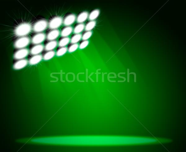 Verde luz viga áspero superfície cópia espaço Foto stock © cherezoff