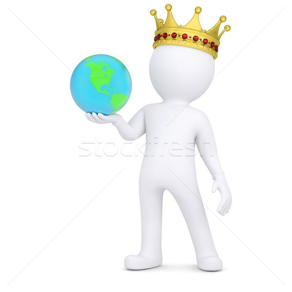 Сток-фото: 3D · корона · земле · изолированный
