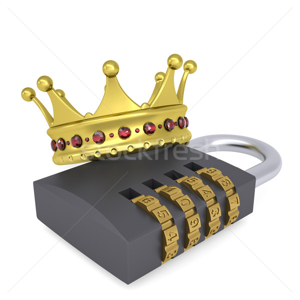 Crown on the combination lock Stock photo © cherezoff