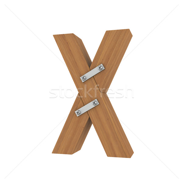 Wooden letter X Stock photo © cherezoff