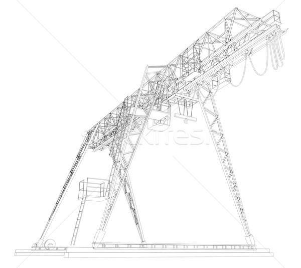 Gantry bridge crane  Stock photo © cherezoff