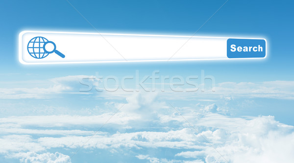 Kék ég felhők böngésző természet égbolt Stock fotó © cherezoff