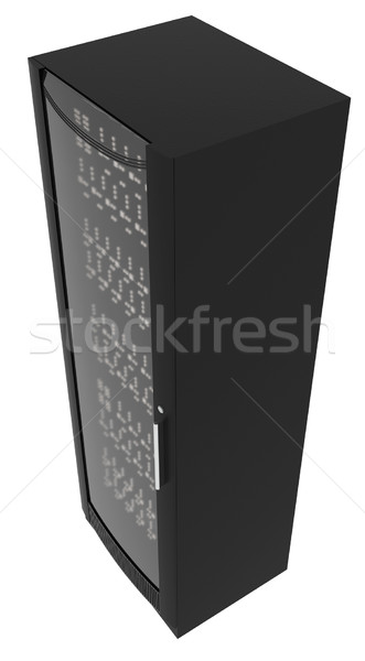 Metal locker with handle on white, top view Stock photo © cherezoff