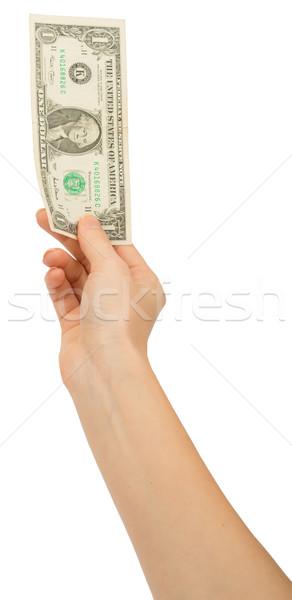 Humans hand holding money Stock photo © cherezoff