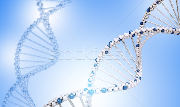 Dna Blauw abstract medische Stockfoto © cherezoff