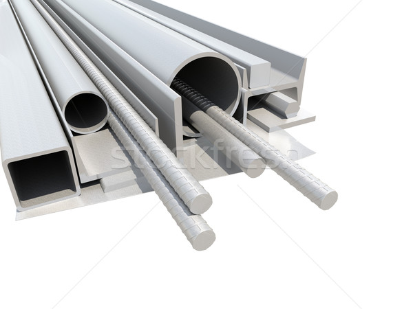 Rolled metal products. White background Stock photo © cherezoff