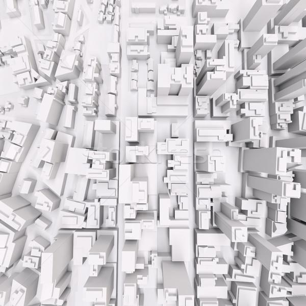 White modern city Stock photo © cherezoff