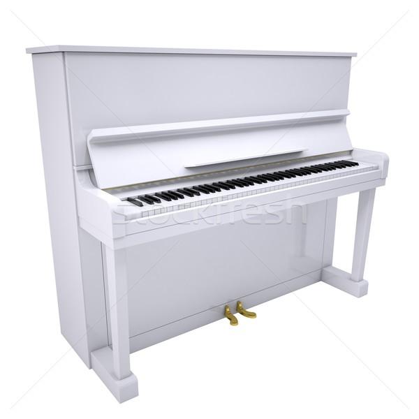 White piano Stock photo © cherezoff