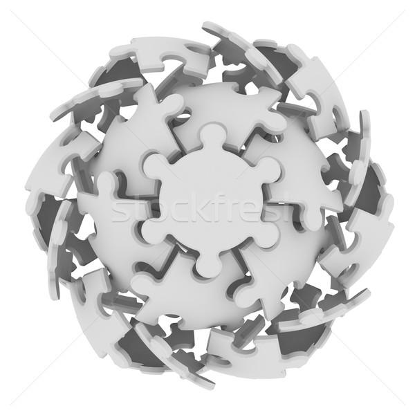 Sphere consisting of puzzles Stock photo © cherezoff
