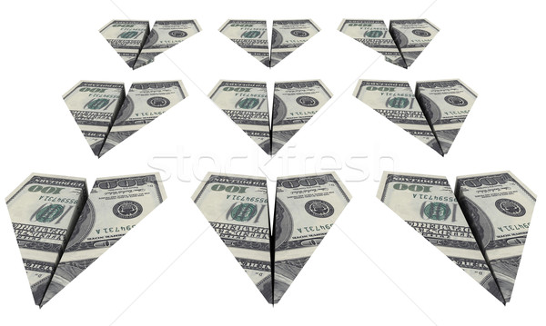 Force aircraft from the dollars is flying Stock photo © cherezoff