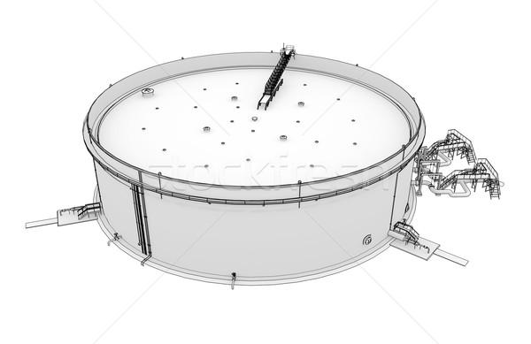 Oil tank rendering in lines Stock photo © cherezoff