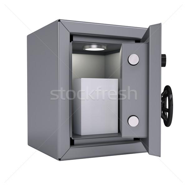 White box in an open metal safe Stock photo © cherezoff