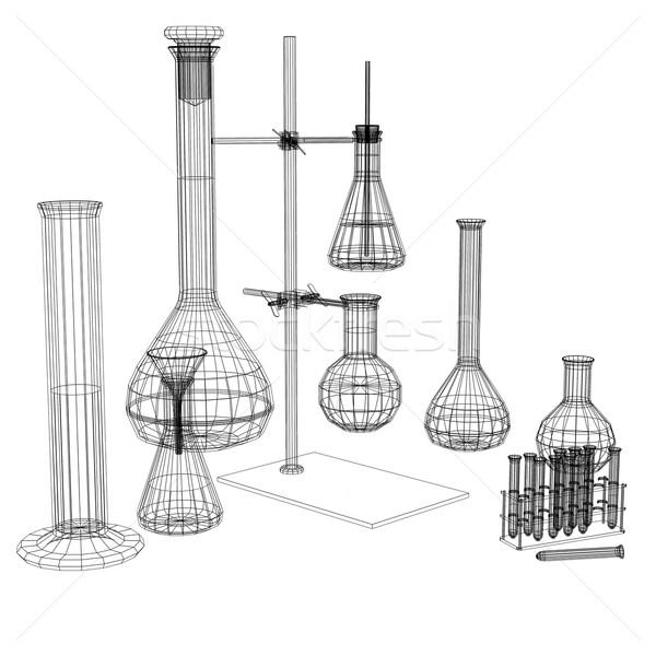 испытание Трубы Черно-белые оказывать белый лаборатория Сток-фото © cherezoff