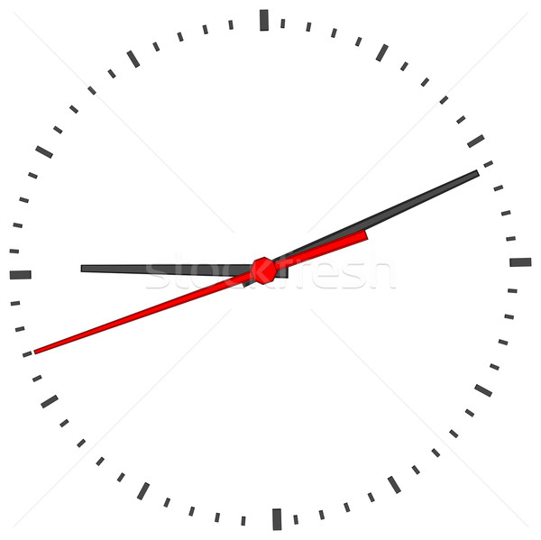 Stock photo: Clock face on white