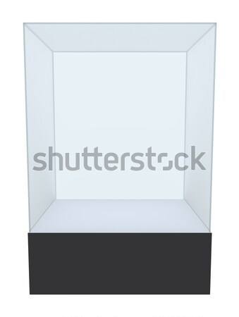 Glass cube on pedestal. 3d illustration Stock photo © cherezoff