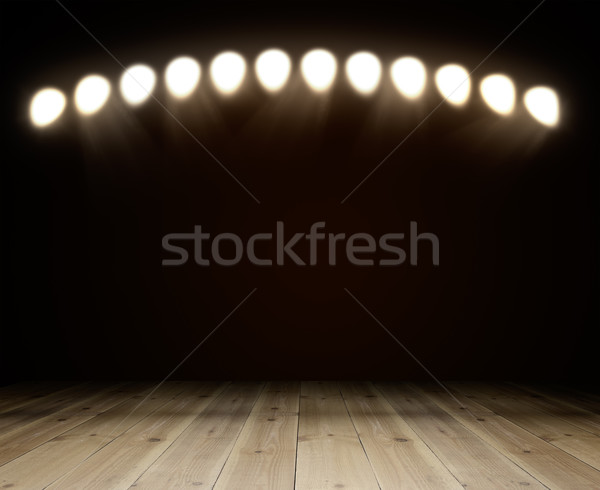 Vieux chambre Spotlight exposition espace de copie Photo stock © cherezoff